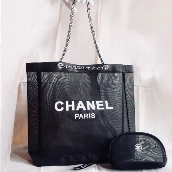 CHANEL Bags   Authentic Vip Gift Tote Wmakeup Bag   Poshmark 46e6094b55